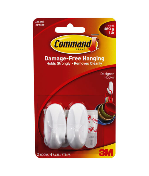 Picture of OVAL HOOKS  SMALL  - COMMAND