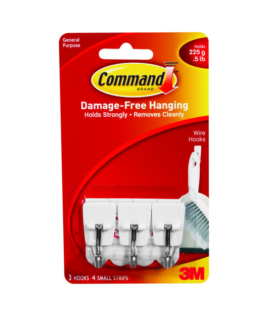 Picture of WIRE HOOK SMALL- COMMAND (VAL)