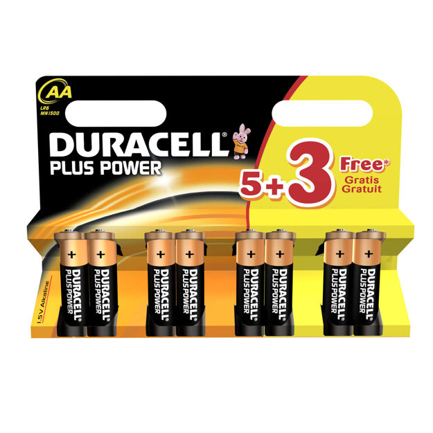 Picture of BATTERY AA DURACELL (5+3Pk)