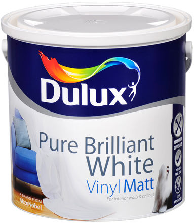 Picture of DULUX PURE WHITE - MAT (10L) DLX