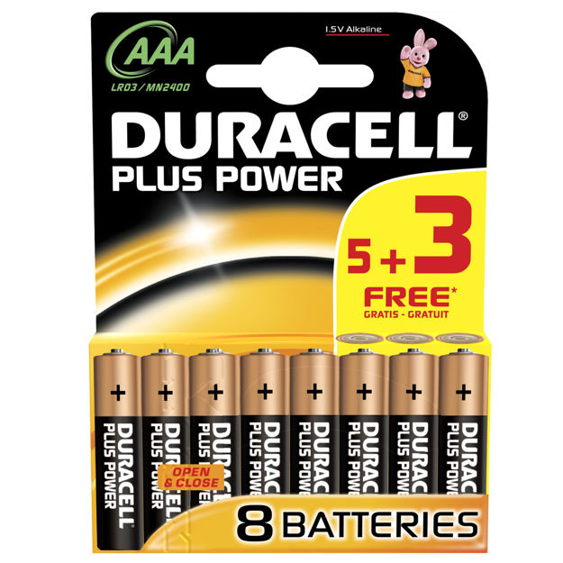 Picture of BATTERY  AAA DURA (5+ 3PK)