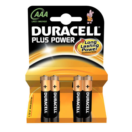 Picture of BATTERY - AAA D/CELL PLUS - 4pk