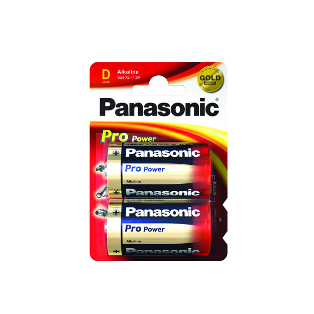 Picture of PANA BATTERY D 2PK