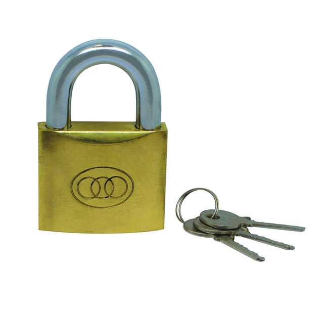 Picture of TRICIRCLE 38MM BRASS PADLOCK  (264)