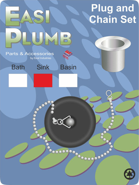 Picture of SINK PLUG & CHAIN - (POLY)