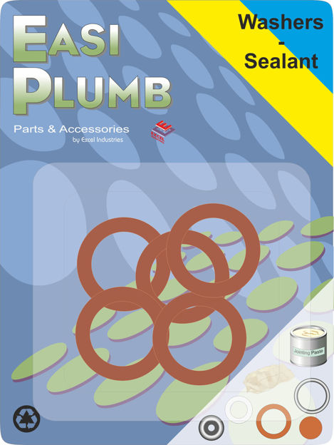 """Picture of FIBRE WASHERS 1/2"""" PK.5"""