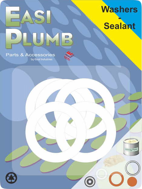 """Picture of PVC WASHERS (PK 5) 1/2"""""""