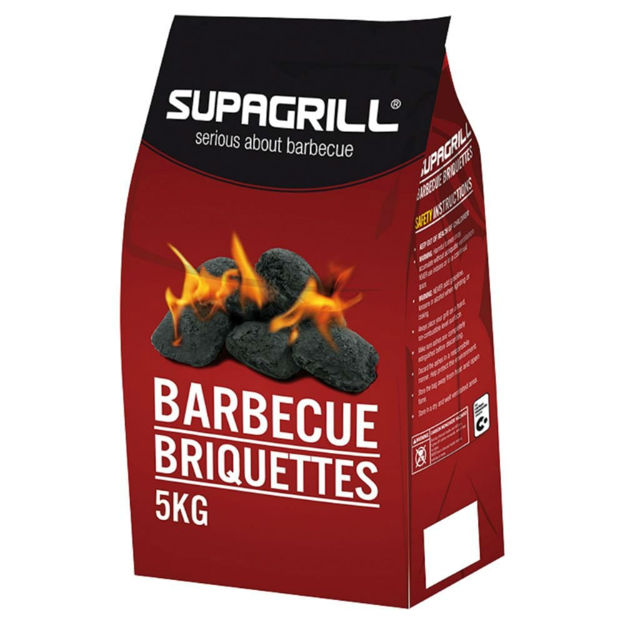 Picture of CHARCOAL SUPAGRILL BBQ BRIQUETTES 5KG