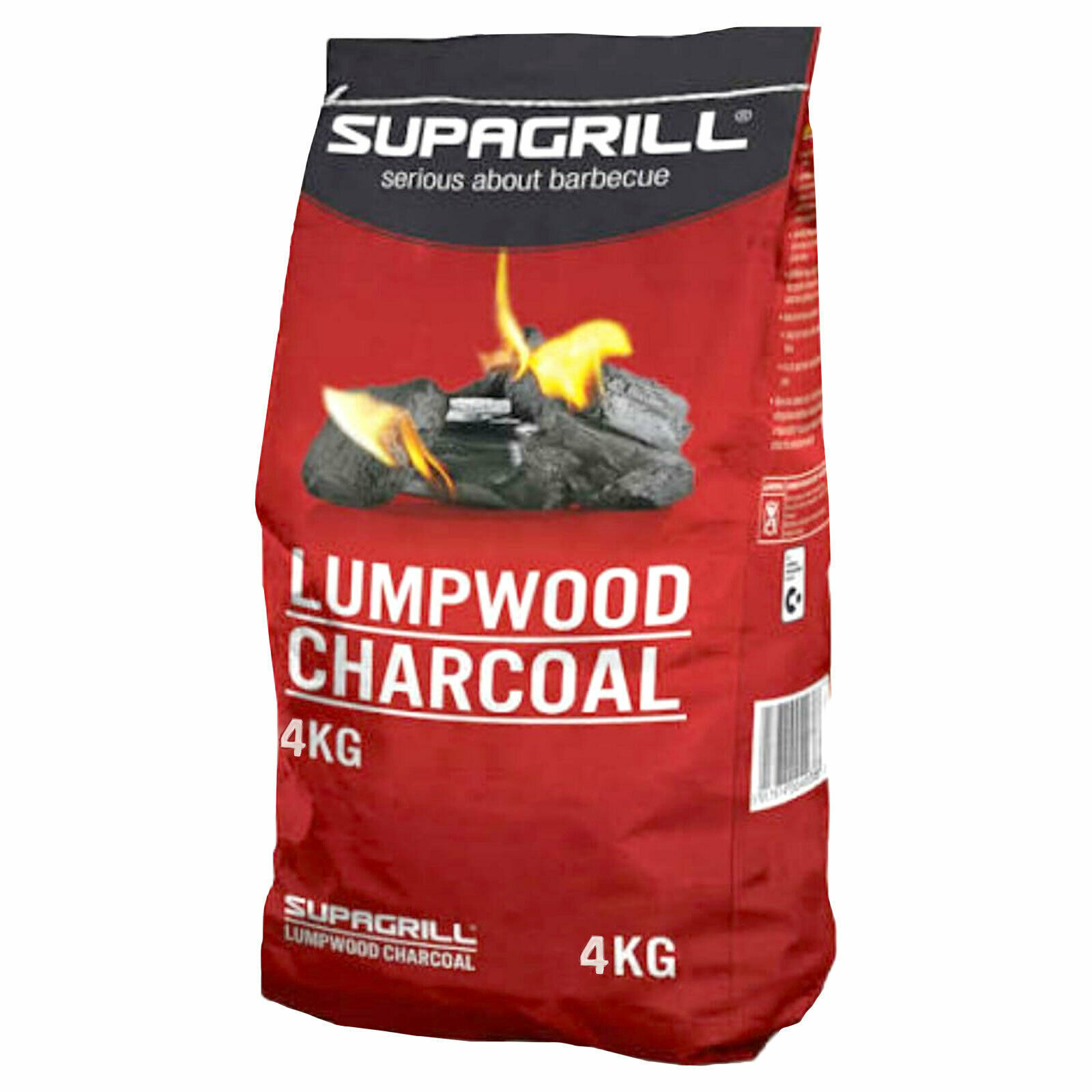 Picture of CHARCOAL SUPAGRILL BBQ LUMPWOOD 4KG