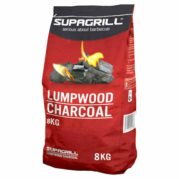 Picture of CHARCOAL SUPAGRILL BBQ LUMPWOOD 8KG