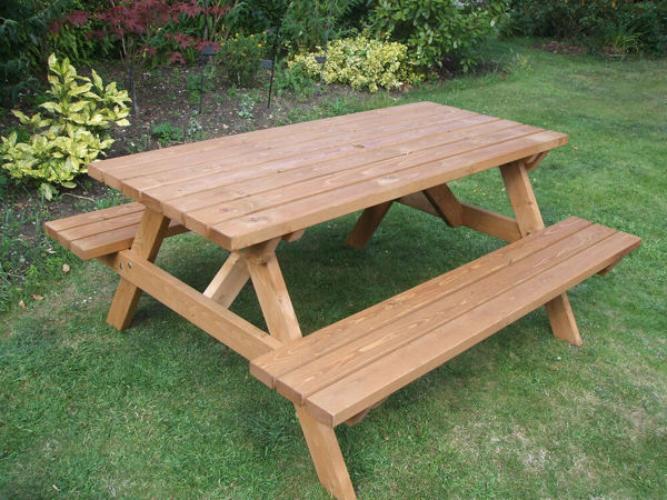 Picture of PICNIC BENCH MADE WITH PRESSURE TREATED WOOD