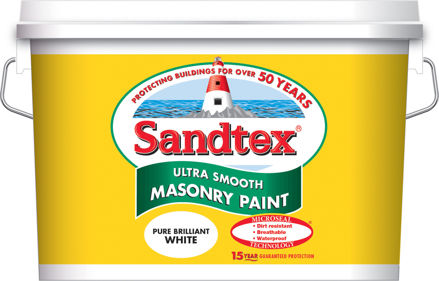 Picture of SANDTEX - SMOOTH MASONRY PAINT BRILLIANT WHITE 10L