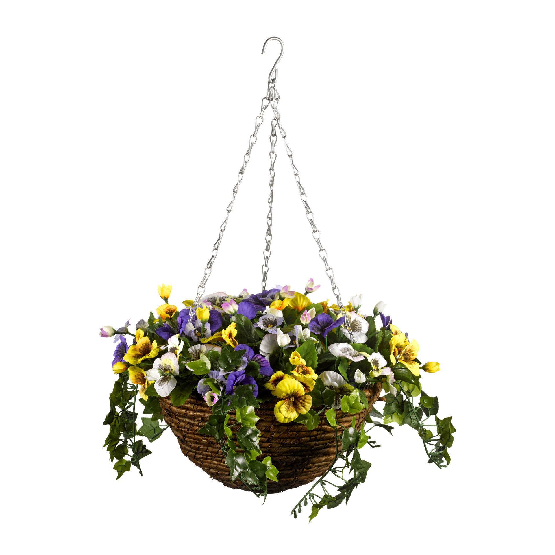 Picture of BASKET - HANGING EASY (PANSY) 30cm ARTIFICIAL