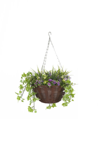 Picture of BASKET - HANGING EASY (PETUNIA) 30cm ARTIFICIAL