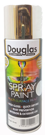 Picture of SPRAY PAINT 400ML BRIGHT SILVER (DOUGLAS)