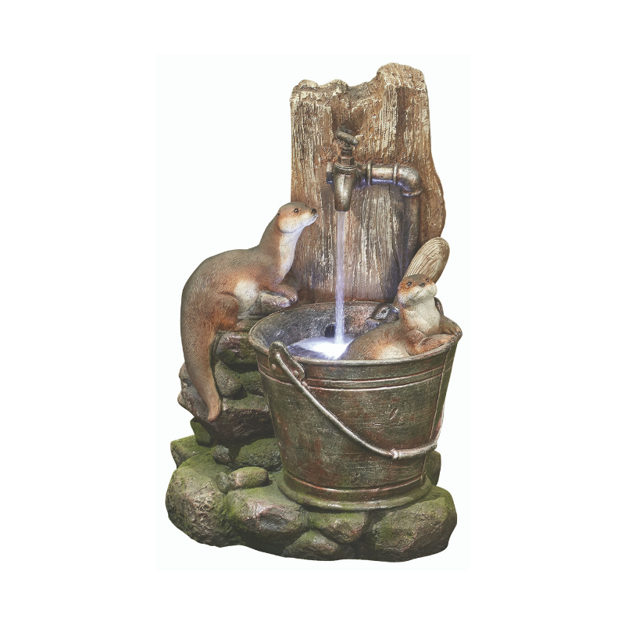 Picture of WATER FEATURE - PLAYFUL OTTERS (56cm)
