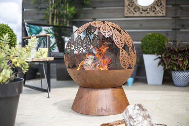 Picture of FIREPIT - LEAVES FIRE GLOBE