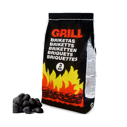 Picture of GRILL CHARCOAL BBQ BRIQUETTES 3KG