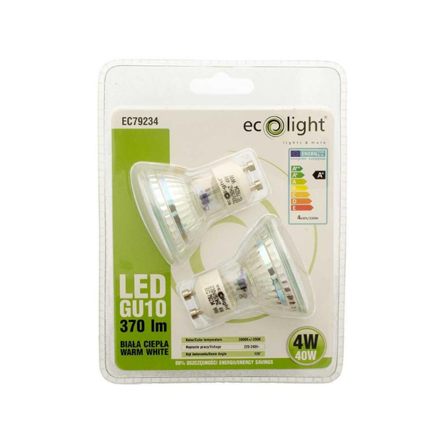 Picture of ECOLIGHT LED GU10 TWIN PACK LIGHTS
