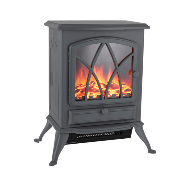 Picture of WARMLITE STIRLING ELECTRIC FIRE STOVE GREY 2KW