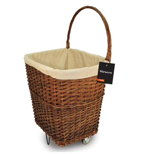 Picture of SIROCCO NATURAL WICKER FIRELOG CART SIROCCO