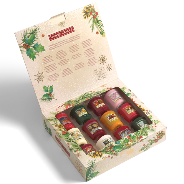 Picture of YANKEE CANDLE CHRISTMAS GIFT SET 12 VOTIVES