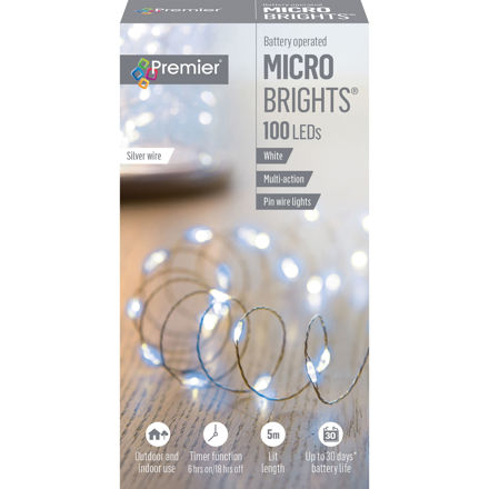 Picture of LIGHTS - BATTERY OPERATED 100 MULTIBRIGHT WITH TIMER WHITE