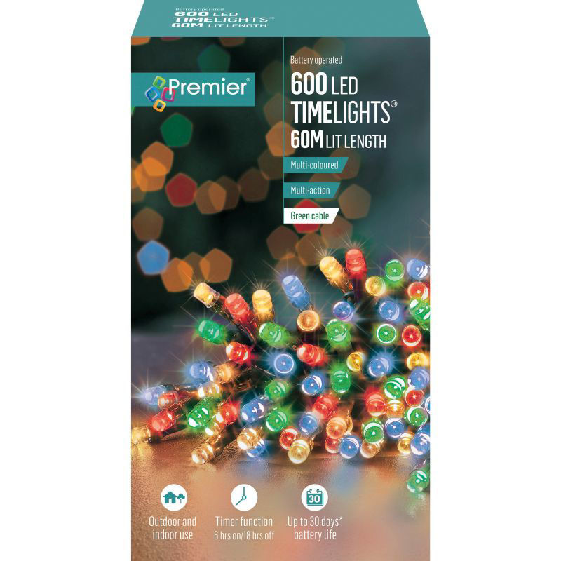 Picture of LIGHTS- PREMIER 600 LED Battery Operated Timelights - Multi-Coloured