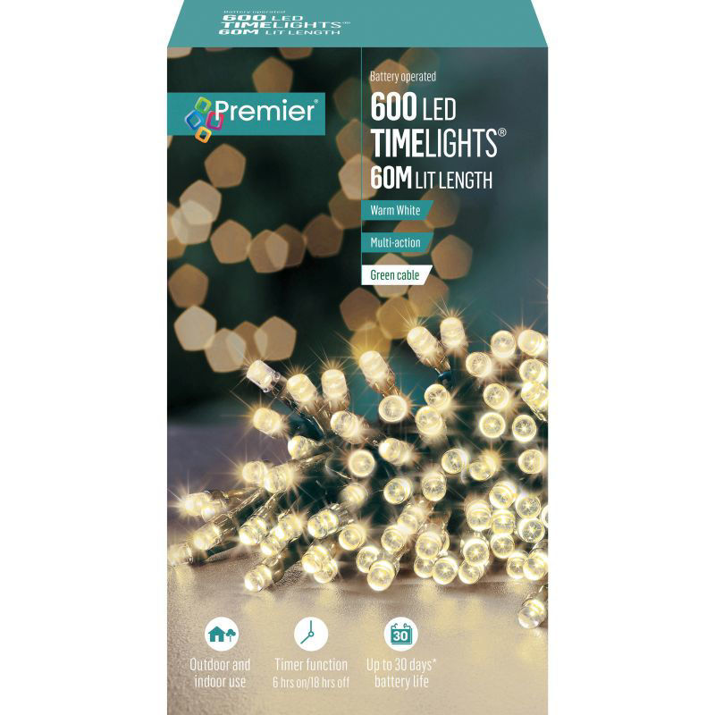 Picture of LIGHTS- PREMIER 600 LED Battery Operated Timelights - Warm White