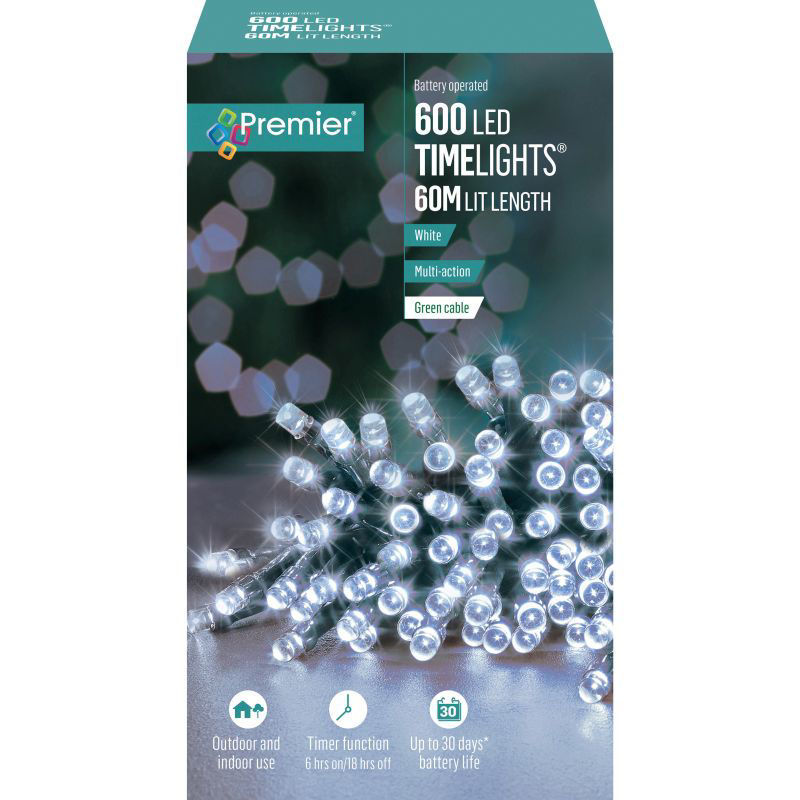 Picture of LIGHTS- PREMIER 600 LED Battery Operated Timelights - White