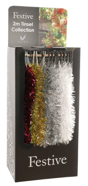 Picture of Festive Chunky/Fine Cut Tinsel - 2m x 7.5cm