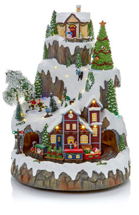 Picture of LED Musical Christmas Village Scene - 43cm