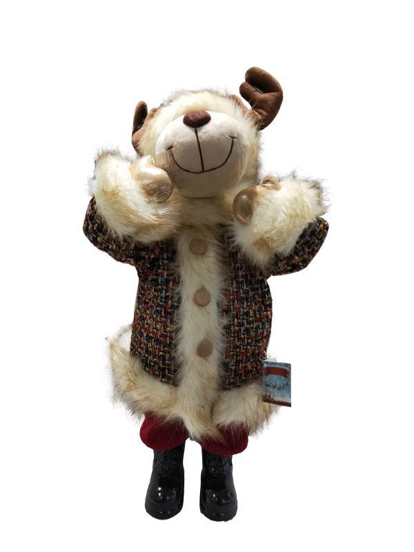 Picture of Standing Moose Dark Red - 60cm