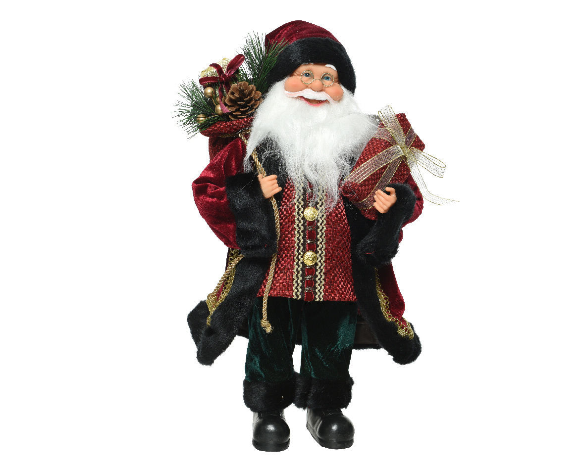 Picture of Red Plush Santa with Fur Coat  - 120cm