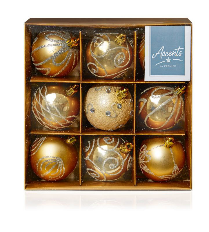 Picture of CHAMPAGNE GOLD 9X60CM BALLS