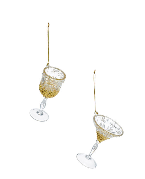 Picture of WINE GLASS DECORATION 10CM