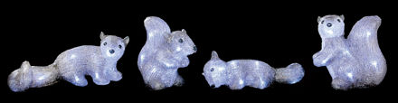 Picture of LED ACRYLIC SQUIRRELS 4PC 23CM