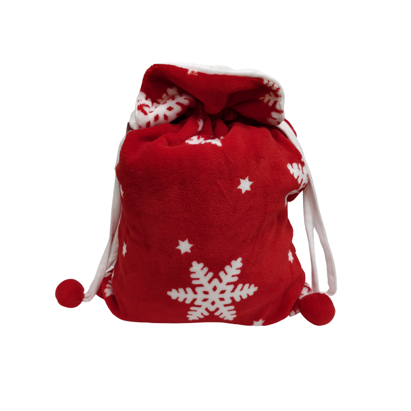 Picture of BLANKET IN BAG SNOWFLAKE RED THROW 1.3M X 1.6