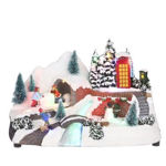 Picture of Luville LED Battery Operated Snowy Village Scene - 18.5cm