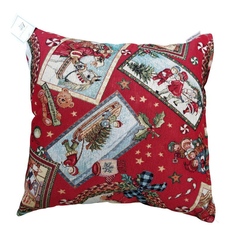 Picture of RED WISHES CHRISTMAS CUSHION 45CM X 45CM