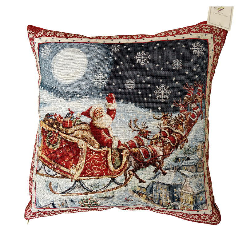 Picture of CUSHION CHRISTMAS SLEIGH 45CM X 45CM