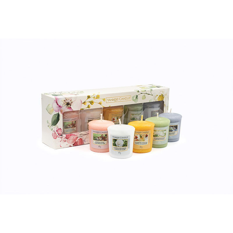 Picture of YANKEE CANDLE GIFT SET - GARDEN HIDEAWAY (5 VOTIVE)