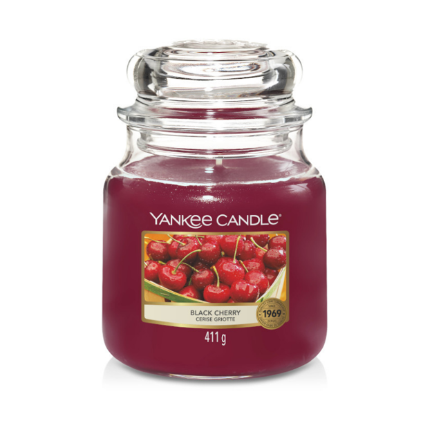 Picture of YANKEE CANDLE - MEDIUM BLACK CHERRY