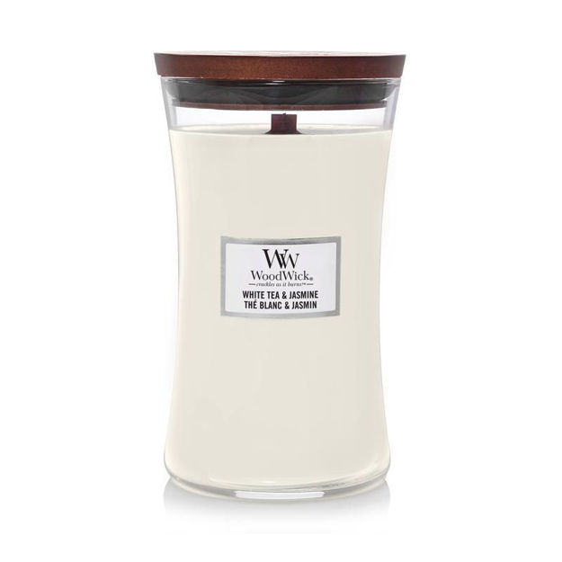 Picture of WOODWICK CANDLE - LARGE WH TEA JASMINE