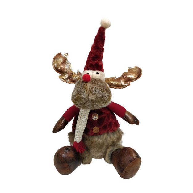 Picture of Plush Reindeer Sitting - 26cm