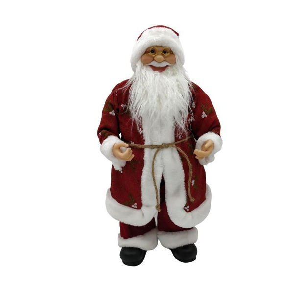 Picture of SANTA STANDING WITH LONG DARK RED COAT (60CM)