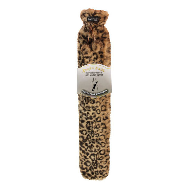 Picture of HOT WATER BOTTLE - X/LONG PLUSH (LEOPARD)