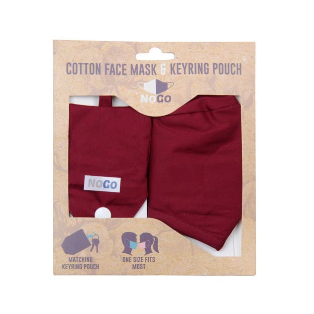 Picture of MASK - COTTON (BURGANDY)