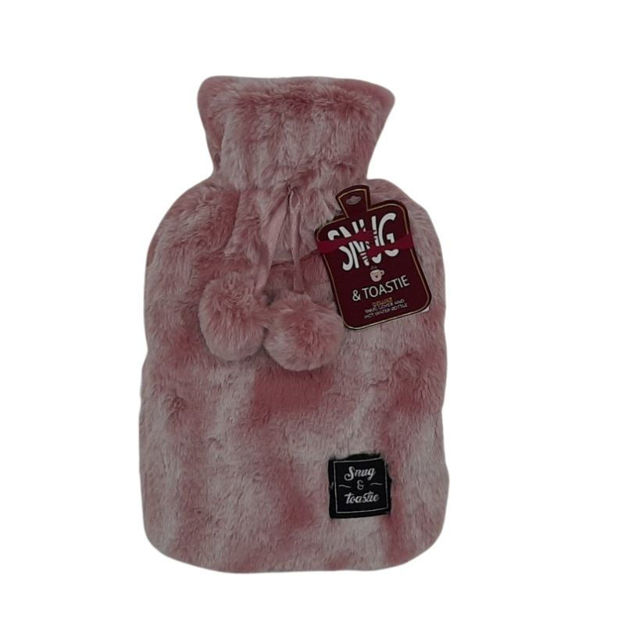 Picture of HOT WATER BOTTLE - TWO TONE PLUSH (PNK)