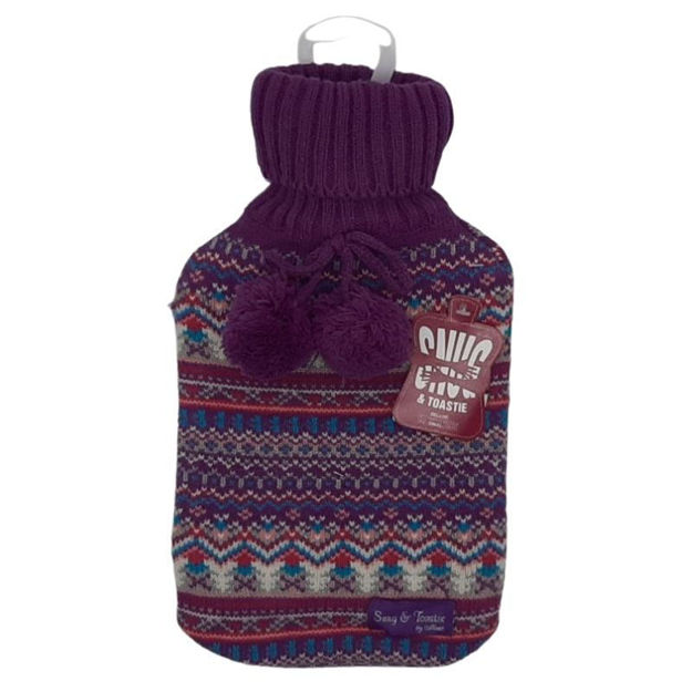Picture of HOT WATER BOTTLE - DELUXE & COVER (BLUE)